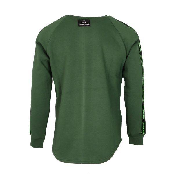 Cotton 4All 21-135 Ανδρικό Μπλουζάκι Φούτερ Πράσινο 6