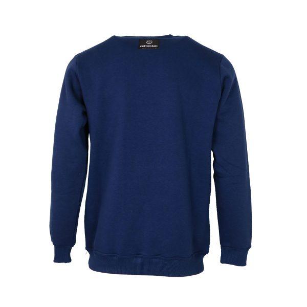 Cotton 4All 21-122 Ανδρική Μπλούζα Φούτερ Μπλέ Ίντιγκο 4