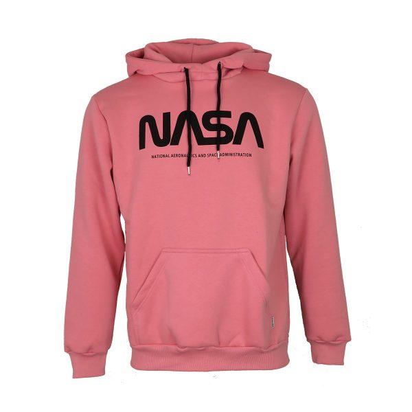 BODY MAX 4001 Ανδρική Μπλούζα Φούτερ με Κουκούλα Ροζ 3