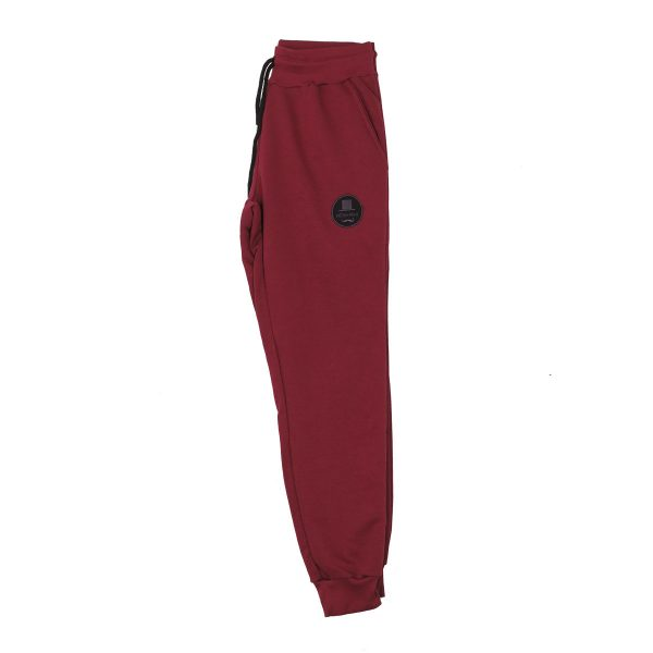 BODY MAX  7003 Ανδρικό Παντελόνι Φόρμας Φούτερ Μπορντό 4