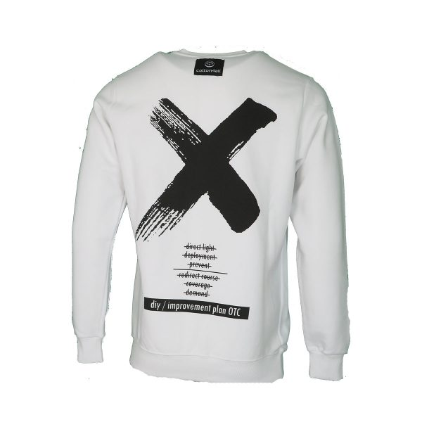 Cotton 4all 21-130 Ανδρικό Μπλουζάκι Φούτερ Λευκό 4
