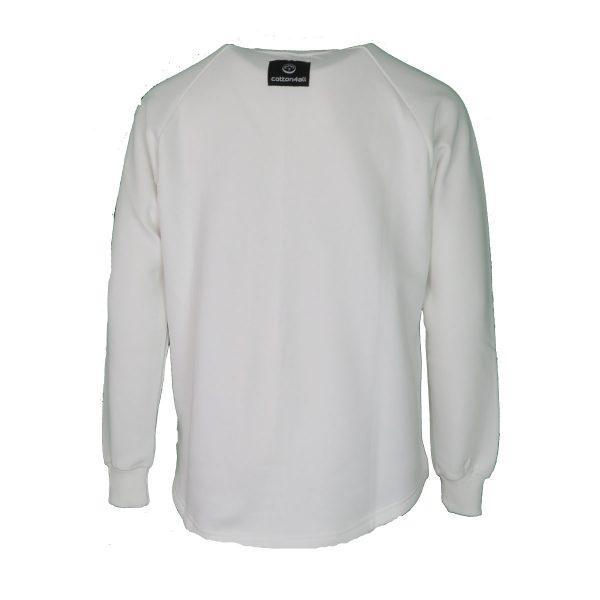 Cotton 4all 21-133 Ανδρική Μπλούζα Φούτερ Λευκό 4