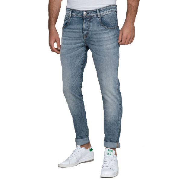 EDWARD JEANS MP-D-JNS-S20-CONWAY-JAP Ανδρικό Παντελόνι Τζίν Μπλέ 5