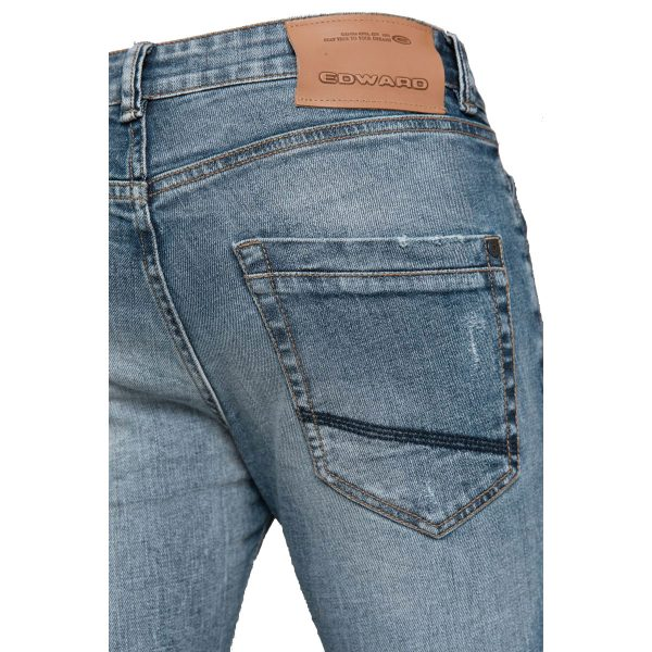 EDWARD JEANS MP-D-JNS-S20-CONWAY-JAP Ανδρικό Παντελόνι Τζίν Μπλέ 4