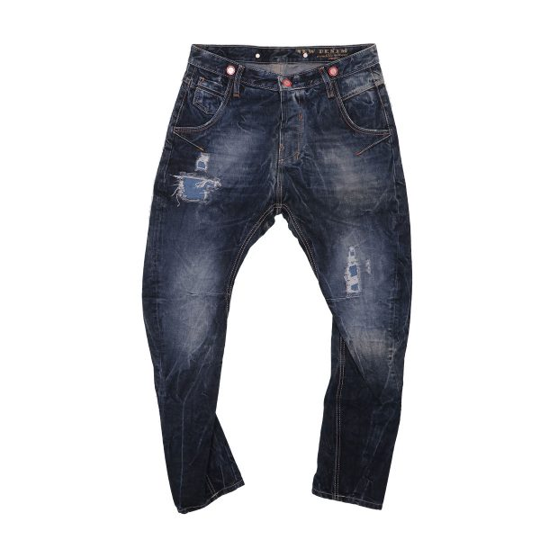 New Denim 11154 Ανδρικό Παντελόνι Τζίν Μπλέ 3