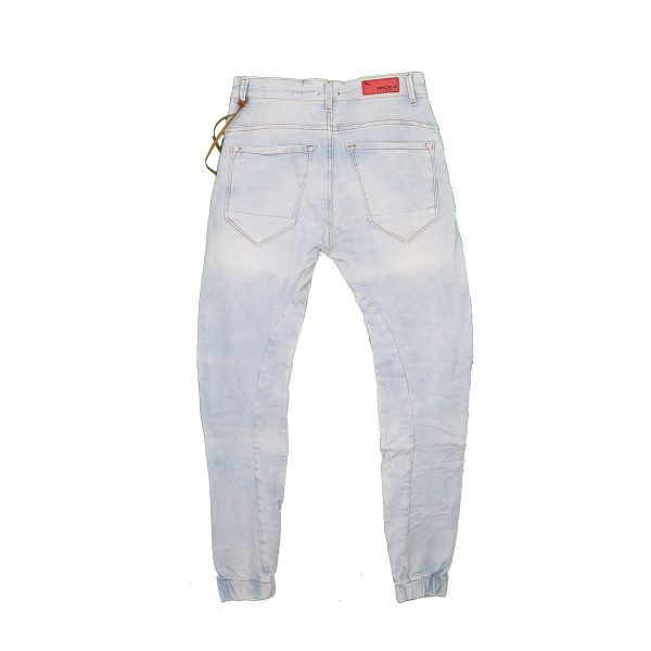 Back 2 Jeans M18 Ανδρικό Τζιν Με Λάστιχο Σιέλ 4
