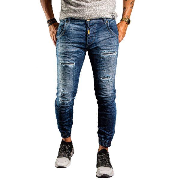 Profil 3009 Ανδρικό Παντελόνι Τζίν Με Λάστιχο 3