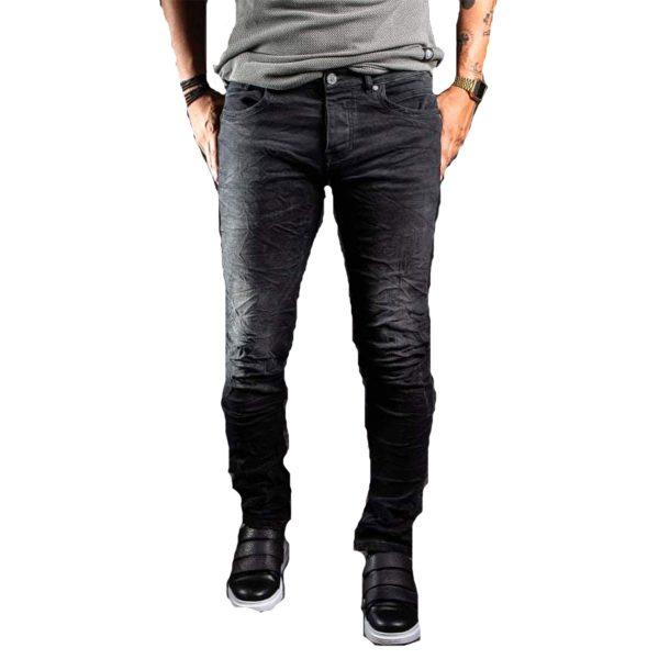 Profil 3033 Ανδρικό Παντελόνι Τζίν Μαύρο 3