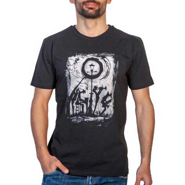 Cotton 4all 21-206 Ανδρικό Μπλουζάκι Με Στάμπα Μαύρο 3