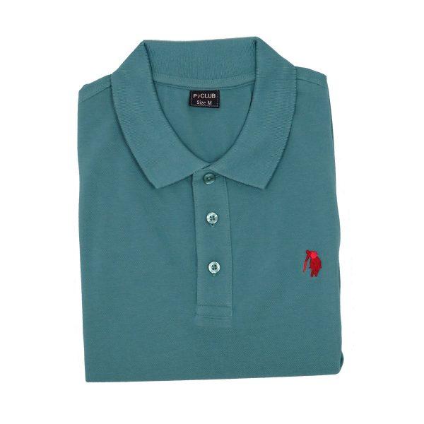 P/CLUB 9881 COL 302 Ανδρικό Μπλουζάκι Με Γιακά  Πετρόλ 4