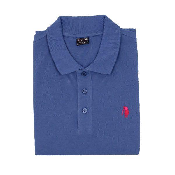 P/CLUB 9881 COL 275 Ανδρικό Μπλουζάκι Με Γιακά Σιέλ 4