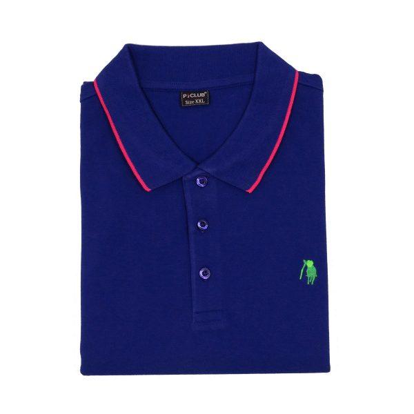 P/CLUB 22800 COL 272 Ανδρικό Μπλουζάκι Με Γιακά Μπλε Ρουά 4