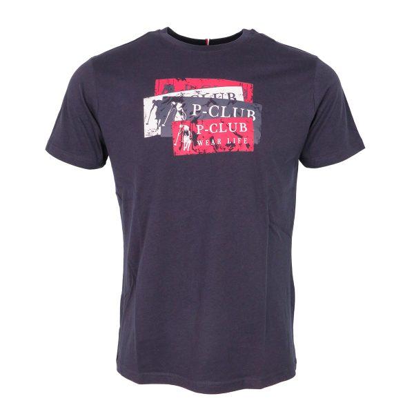 P/CLUB TS21513 COL 298 Ανδρικό Μπλουζάκι Μπλέ 3