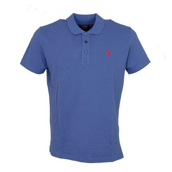 P/CLUB 9881 COL 275 Ανδρικό Μπλουζάκι Με Γιακά Σιέλ 3