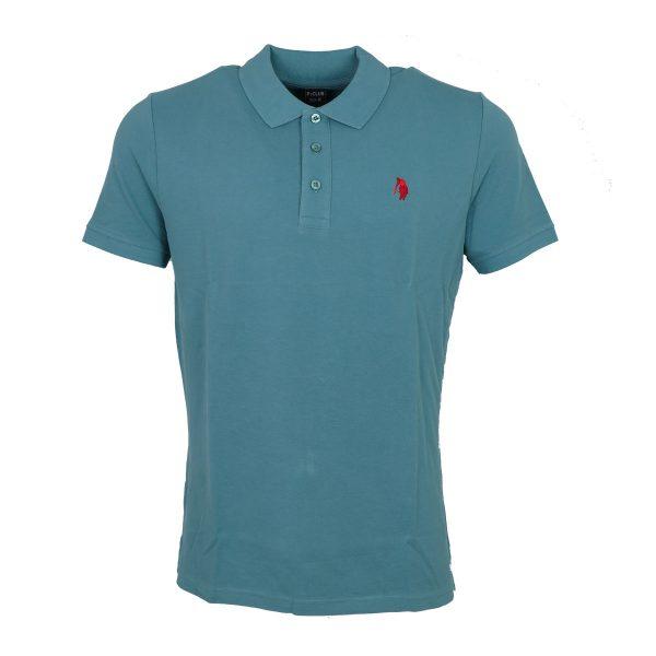 P/CLUB 9881 COL 302 Ανδρικό Μπλουζάκι Με Γιακά  Πετρόλ 3