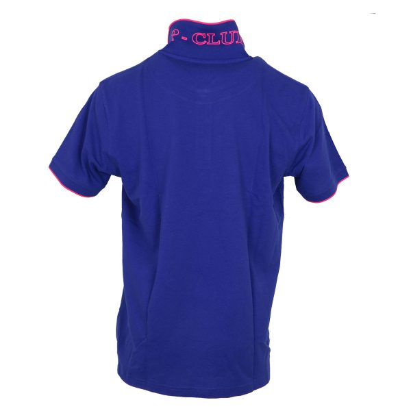 P/CLUB 22800 COL 272 Ανδρικό Μπλουζάκι Με Γιακά Μπλε Ρουά 5