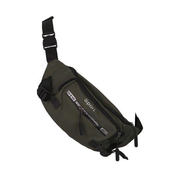 Privato 801 Ανδρική Τσάντα Μέσης-Μπανάνα Λαδί 4