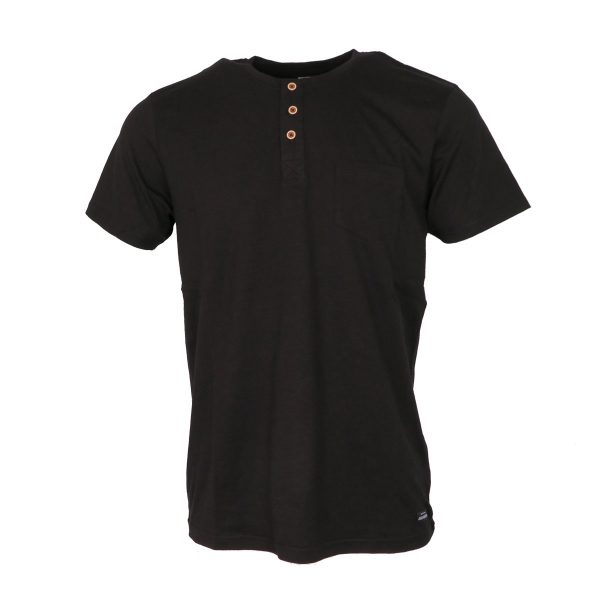 Tiffosi 10003068-000 Ανδρικό Μπλουζάκι Με Κουμπιά Μαύρο 3