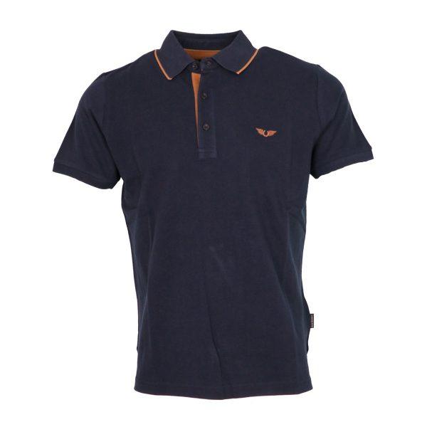 Side Effect 1534-2 Ανδρική Μπλούζα με Γιακά Μπλέ 2