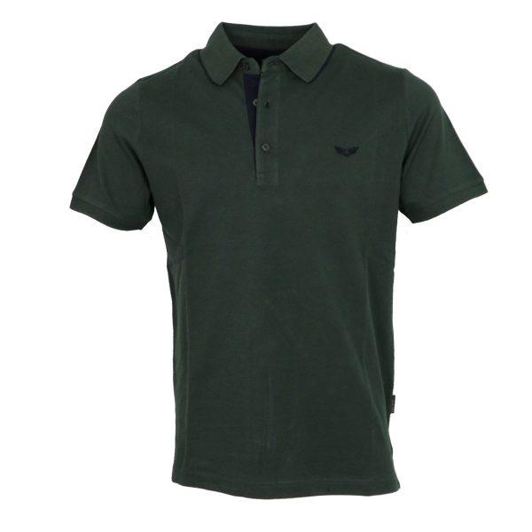 Side Effect 1534-7 Ανδρική Μπλούζα με Γιακά Πράσινο Κυπαρισσί 3