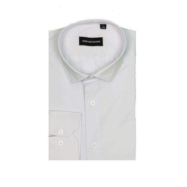 Endeson 125 Ανδρικό Πουκάμισο Λευκό 3