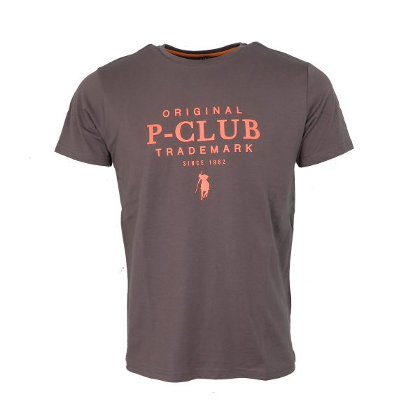 P/CLUB TS21523 458 Ανδρικό Μπλουζάκι Με Στάμπα Γκρί 3
