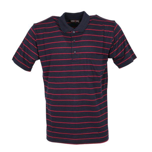 COTTON GREEN 8043B Ανδρική Μπλούζα με Γιακά Μπλέ 3