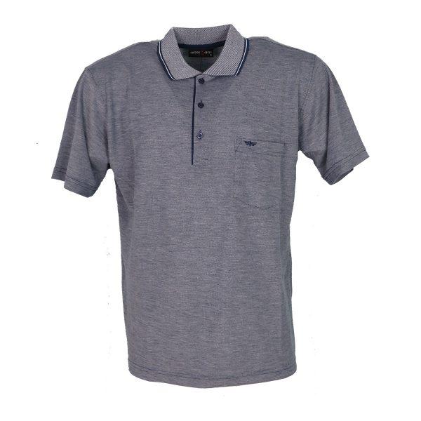 COTTON GREEN 8044B Ανδρική Μπλούζα με Γιακά Γκρί 3