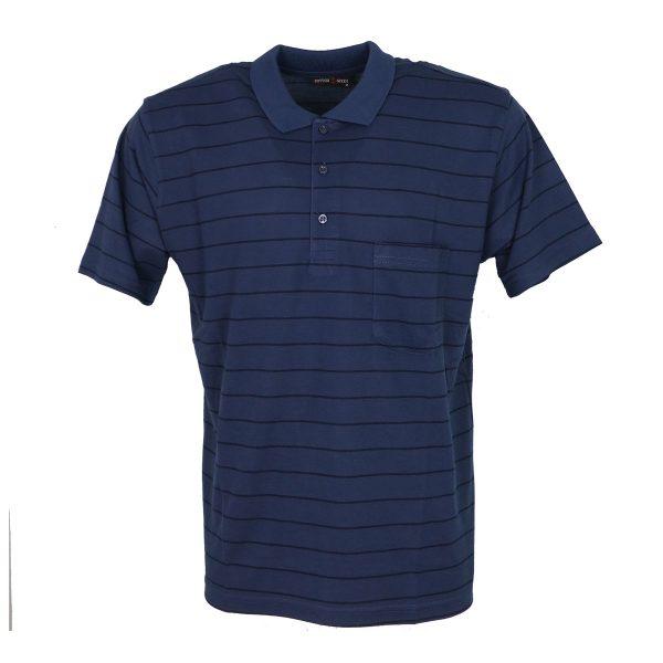 COTTON GREEN 8043Α Ανδρική Μπλούζα Με Γιακά Μπλέ-Ράφ 3