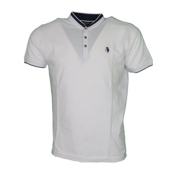 P/CLUB P22359 001 Ανδρική Μπλούζα με Μάο Γιακά Λευκό 3