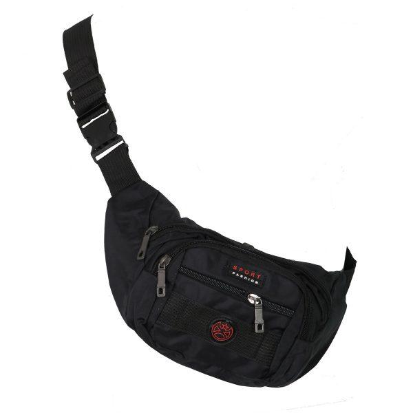 Privato DML-2 Ανδρική Τσάντα Μέσης Μπανάνα Μαύρη 4