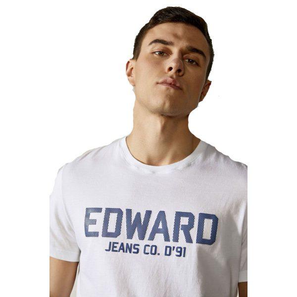 EDWARD MP-N-TOP-S21-008 Ανδρικό Μπλουζάκι Λευκό 4