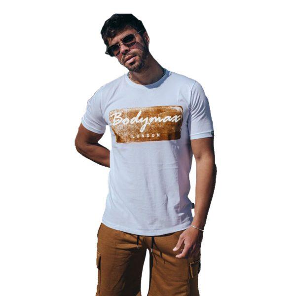 Body Max 1001 Ανδρική Μπλούζα Με Στάμπα Λευκό 3