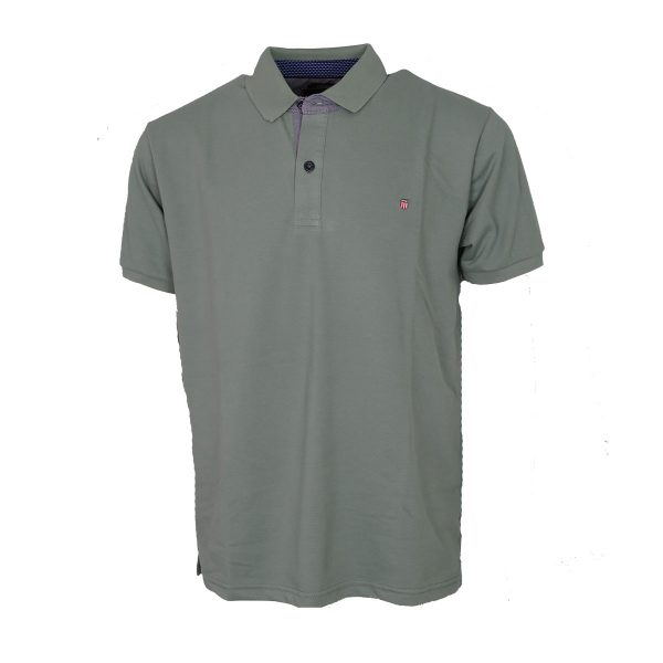 Everbest 212-838-0 Ανδρική Μπλούζα Με Γιακά Μέντα 3