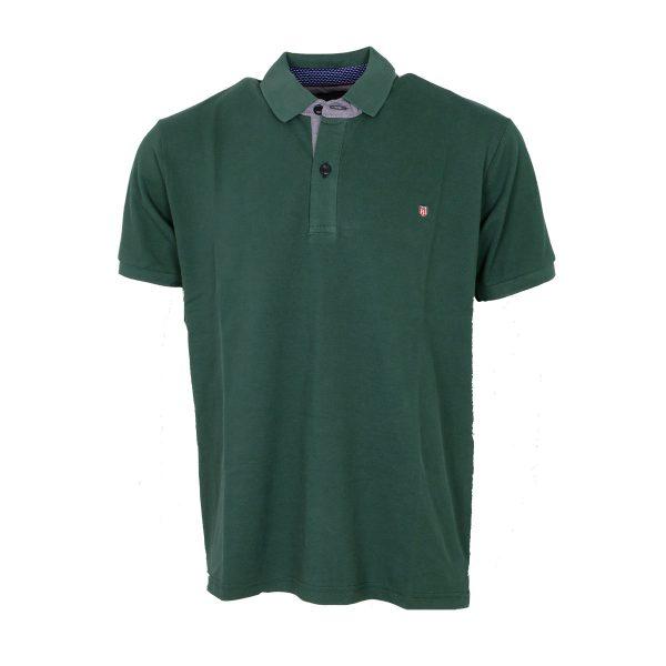 Everbest 212-838-3 Ανδρική Μπλούζα Με Γιακά Πράσινο 3