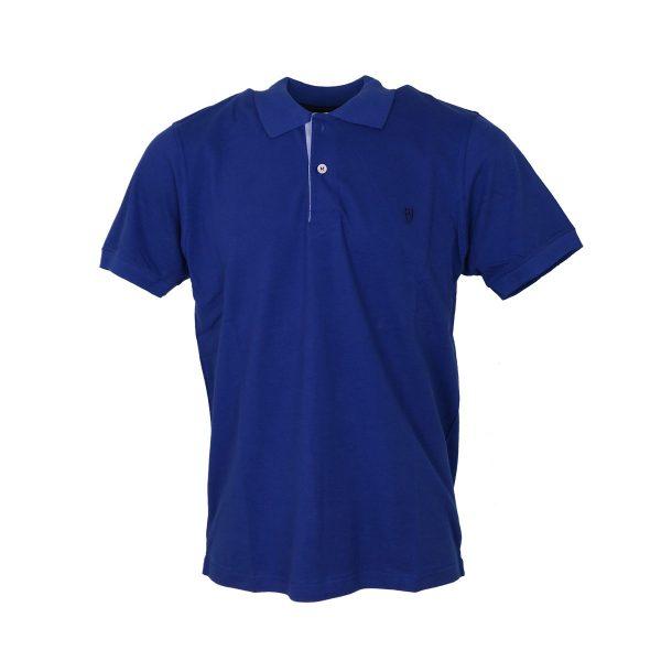 Unique 401KM Ανδρικό Μπλουζάκι με γιακά Μπλέ Ρουά 3