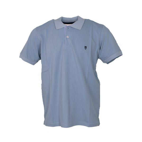 Unique 401KM Ανδρικό Μπλουζάκι Με Γιακά Σιέλ 3