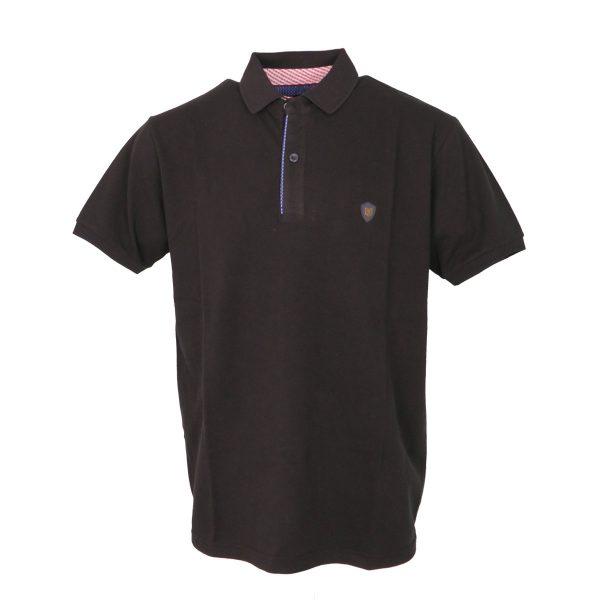 Everbest 212-849-3 Ανδρική Μπλούζα Με Γιακά Μαύρο Big Size 3