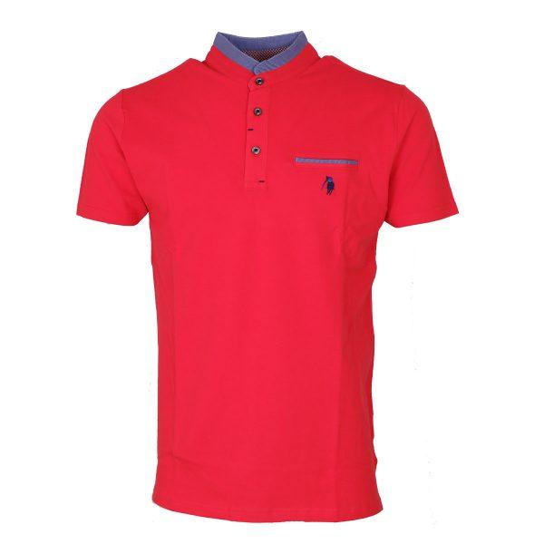 P/CLUB P22375 052 Ανδρική Μπλούζα Με Μάο Γιακά Κοραλλί 3
