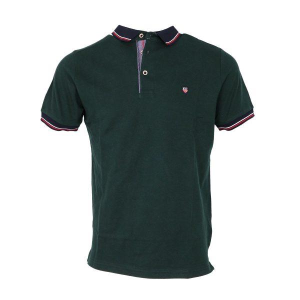 New York Tailors 011.20 CLEO Ανδρική Μπλούζα Με Γιακά Πράσινο Κυπαρισσί 3