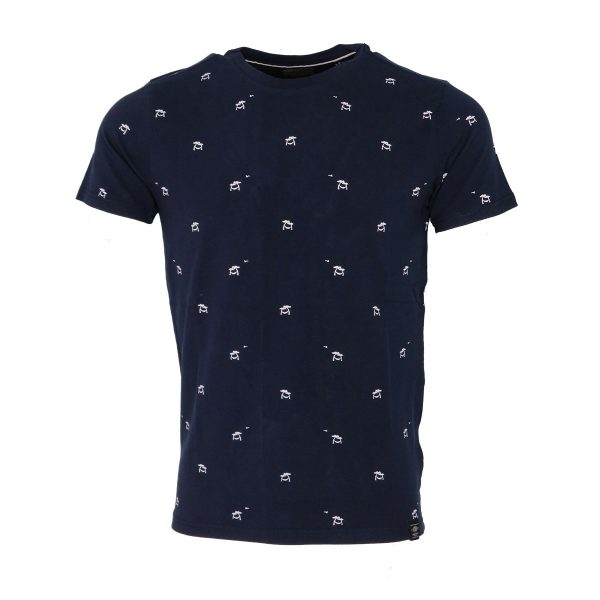 Petrol M-1010-TSR606 5147 Ανδρικό μπλουζάκι Μπλέ 3