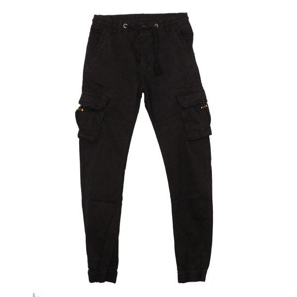 Privato 77103-1 Ανδρικό Παντελόνι Με Τσέπες Cargo Μαύρο 3