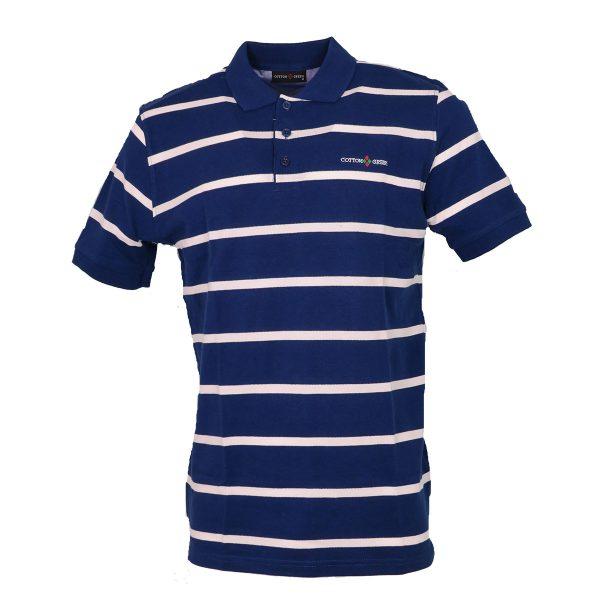 COTTON GREEN 8063 Ανδρική Μπλούζα Ριγέ Μπλέ 3