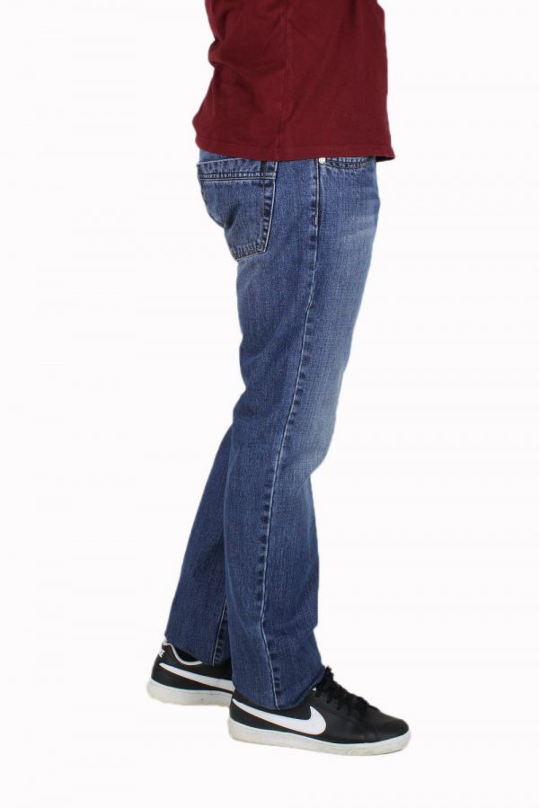 SHAFT M870 Ανδρικό Παντελόνι τζίν Μπλέ 4