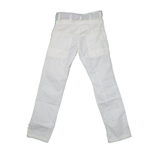 Biston 23-241-002 Ανδρικό Παντελόνι Cargo Λευκό 4