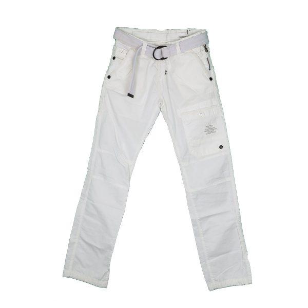 Biston 23-241-002 Ανδρικό Παντελόνι Cargo Λευκό 3