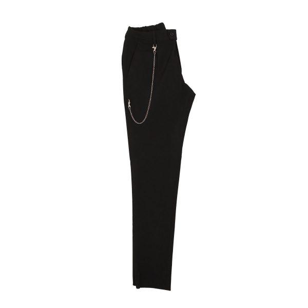 Endeson 515 Ανδρικό Νεανικό Παντελόνι Με Πιέτα Μαύρο 5