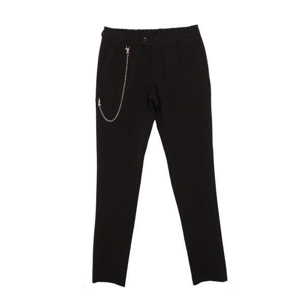 Endeson 515 Ανδρικό Νεανικό Παντελόνι Με Πιέτα Μαύρο 3