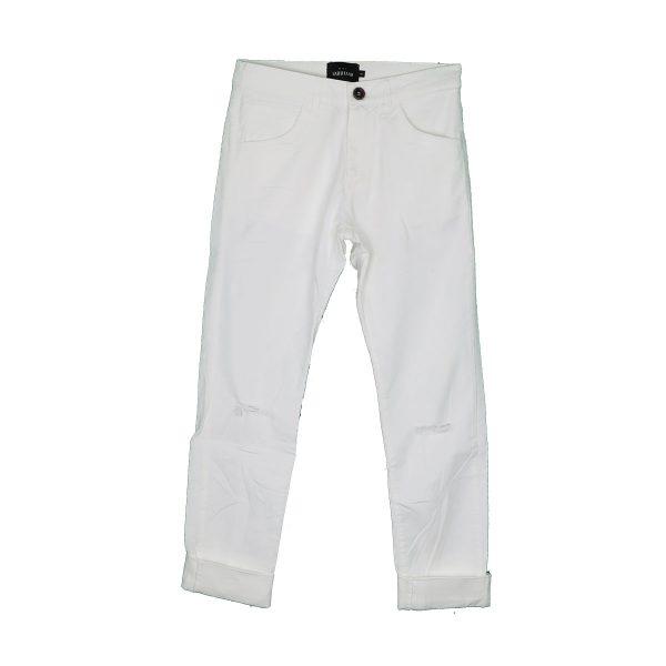 GABBIANO 02-4813 Ανδρικό Παντελόνι Τζίν Λευκό 3