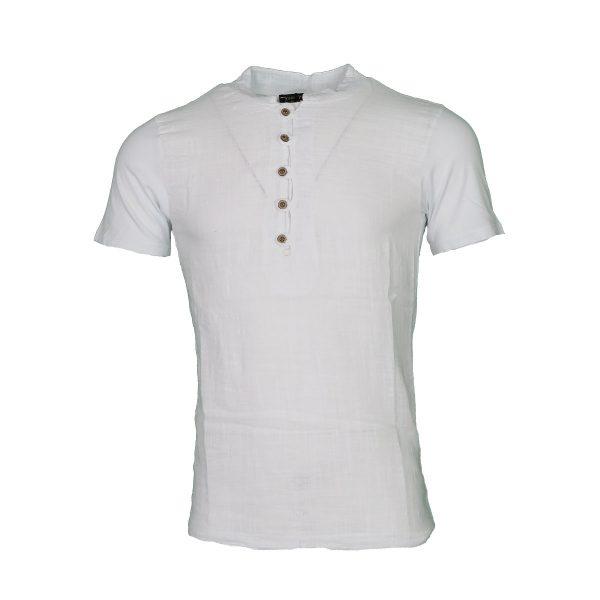 Privato TX6287-QMZJJC Ανδρικό Μπλουζάκι Λευκό 3